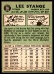 1967 Topps #99  Lee Stange  Back Thumbnail