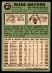 1967 Topps #405  Russ Snyder  Back Thumbnail