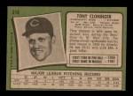 1971 Topps #218  Tony Cloninger  Back Thumbnail