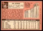 1969 Topps #140  Jim LeFebvre  Back Thumbnail