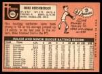 1969 Topps #655  Mike Hershberger  Back Thumbnail
