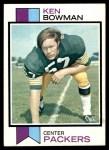 1973 Topps #446  Ken Bowman  Front Thumbnail