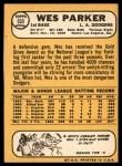 1968 Topps #533  Wes Parker  Back Thumbnail