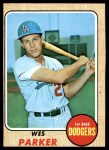 1968 Topps #533  Wes Parker  Front Thumbnail