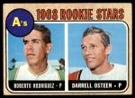 1968 Topps #199   -  Roberto Rodriquez / Darrell Osteen A's Rookies Front Thumbnail