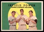 1959 Topps #519   -  Pete Runnels / Dick Gernert / Frank Malzone Infield Power Front Thumbnail