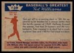 1959 Fleer #39   -  Ted Williams Great Start Back Thumbnail