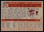 1957 Topps #384  Bobby Gene Smith  Back Thumbnail