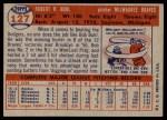 1957 Topps #127  Bob Buhl  Back Thumbnail