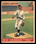 1933 World Wide Gum #45  Larry Benton    Front Thumbnail