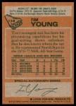 1978 Topps #138  Tim Young  Back Thumbnail