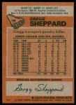 1978 Topps #18  Gregg Sheppard  Back Thumbnail