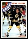 1978 Topps #18  Gregg Sheppard  Front Thumbnail