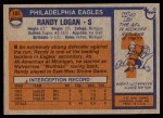 1976 Topps #101  Randy Logan   Back Thumbnail