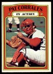 1972 Topps #706   -  Pat Corrales In Action Front Thumbnail