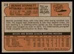 1972 Topps #219  Rennie Stennett  Back Thumbnail