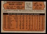 1972 Topps #411  Bob Montgomery  Back Thumbnail