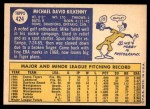 1970 Topps #424  Mike Kilkenny  Back Thumbnail