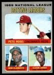 1970 Topps #61   -  Roberto Clemente / Pete Rose / Cleon Jones NL Batting Leaders Front Thumbnail