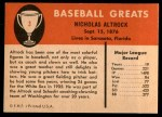 1961 Fleer #3  Nick Altrock  Back Thumbnail