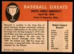 1961 Fleer #7  Dave Bancroft  Back Thumbnail