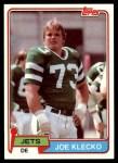 1981 Topps #47  Joe Klecko  Front Thumbnail
