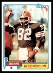 1981 Topps #435  Ozzie Newsome  Front Thumbnail