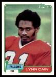 1981 Topps #258  Lynn Cain  Front Thumbnail