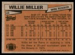 1981 Topps #24  Willie Miller  Back Thumbnail