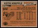 1981 Topps #459  Keith Krepfle  Back Thumbnail