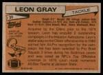 1981 Topps #30   -  Leon Gray All-Pro Back Thumbnail