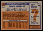 1976 Topps #100  Franco Harris  Back Thumbnail