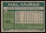 1977 Topps #340  Hal McRae  Back Thumbnail