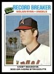 1977 Topps #234   -  Nolan Ryan Record Breaker Front Thumbnail