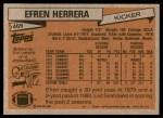1981 Topps #469  Efren Herrera  Back Thumbnail