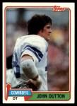 1981 Topps #249  John Dutton  Front Thumbnail