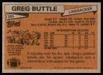 1981 Topps #285  Greg Buttle  Back Thumbnail