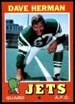 1971 Topps #124  Dave Herman  Front Thumbnail