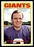 1972 Topps #147  Pete Gogolak  Front Thumbnail