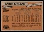 1981 Topps #407  Mike Nelms  Back Thumbnail