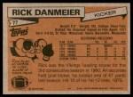 1981 Topps #77  Rick Danmeier  Back Thumbnail