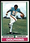 1974 Topps #170  Mercury Morris  Front Thumbnail