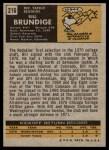 1971 Topps #216  Bill Brundige  Back Thumbnail