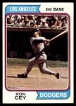 1974 Topps #315  Ron Cey  Front Thumbnail