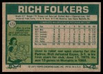 1977 Topps #372  Rich Folkers  Back Thumbnail