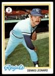 1978 Topps #665  Dennis Leonard  Front Thumbnail
