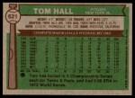 1976 Topps #621  Tom Hall  Back Thumbnail