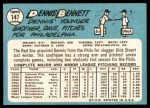 1965 Topps #147  Dennis Bennett  Back Thumbnail