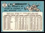 1965 Topps #142  Bill Monbouquette  Back Thumbnail
