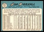 1965 Topps #172  Jimmy Piersall  Back Thumbnail